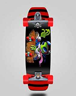 Glutier Surfskate with T12 Surf Skate Trucks Chent...
