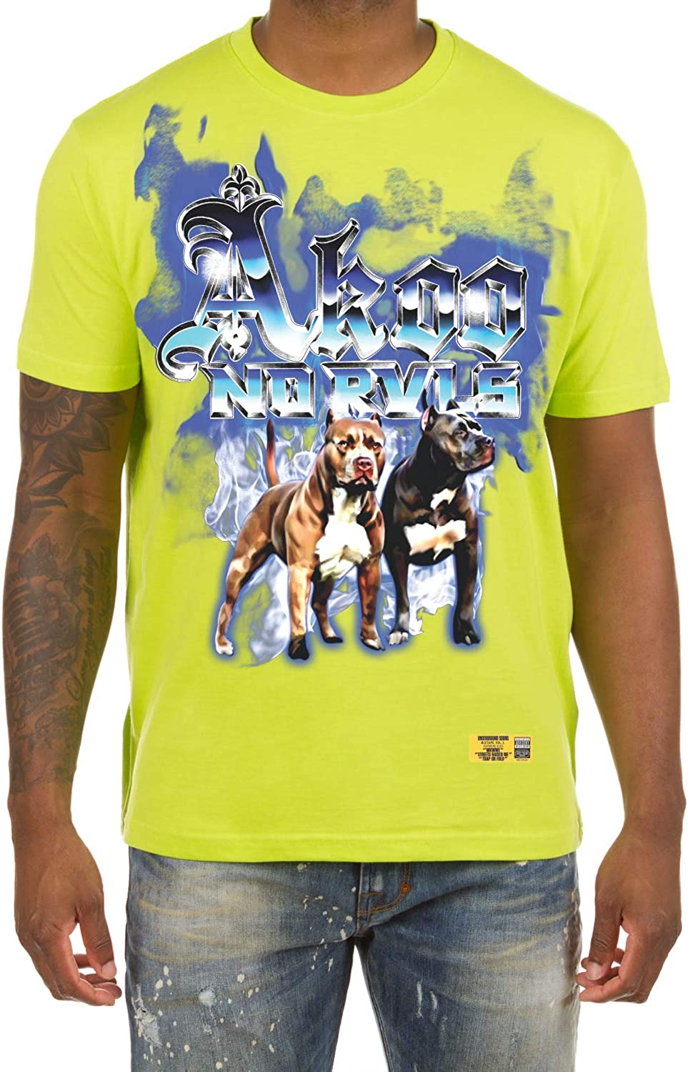 Chicago Mall Akoo Men's Big Dogs Short Sleeve Fashion Cotton Fit Quality inspection Tee Classic
