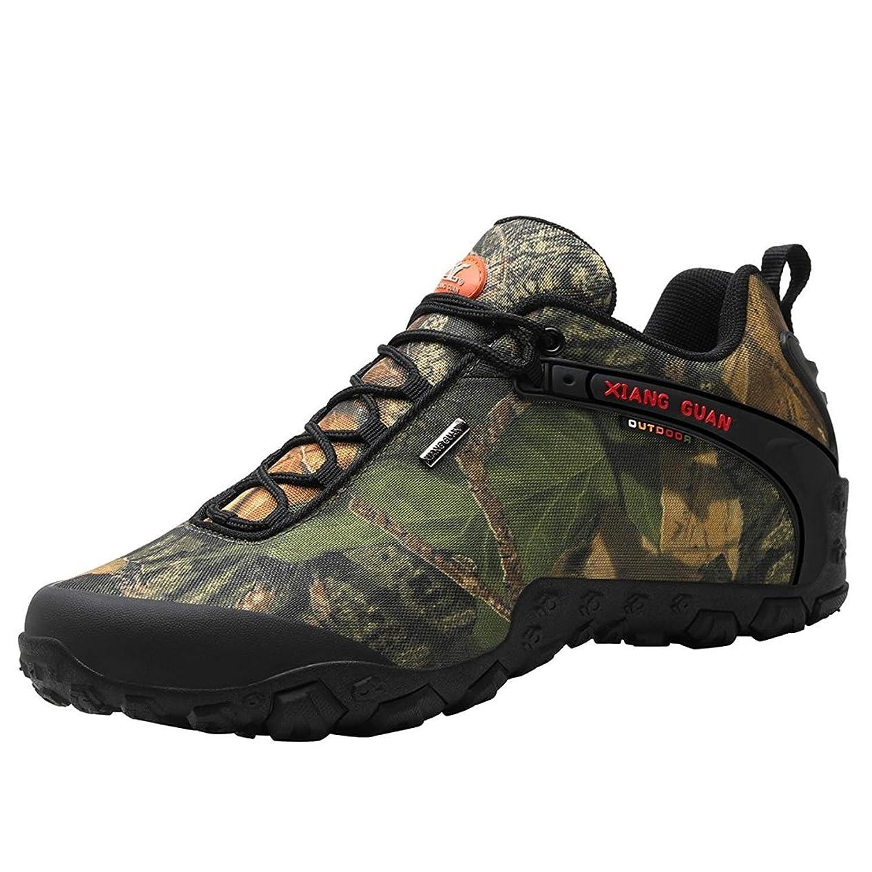 ズームシャンプーハッチ[ショウカン] 登山靴 迷彩 トレッキングシューズ メンズ 防滑 軽量 撥水 ハイキングシューズ
