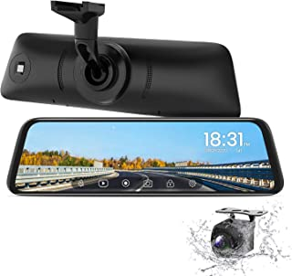 $219 » AUTO-VOX T9 Backup Camera for Truck,9.35''Stream Media Full Touch Screen with OEM Look 1080P Rear View Mirror Camera with ...