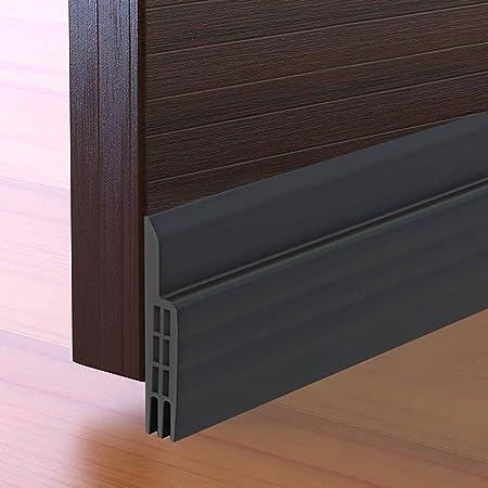 """Door Draft Stopper Under Door Seal for Exterior/Interior Doors, Door Sweep Strip Under Door Draft Blocker, Soundproof Door Bottom Weather Stripping, 2"""" W x 39"""" L, Black"""