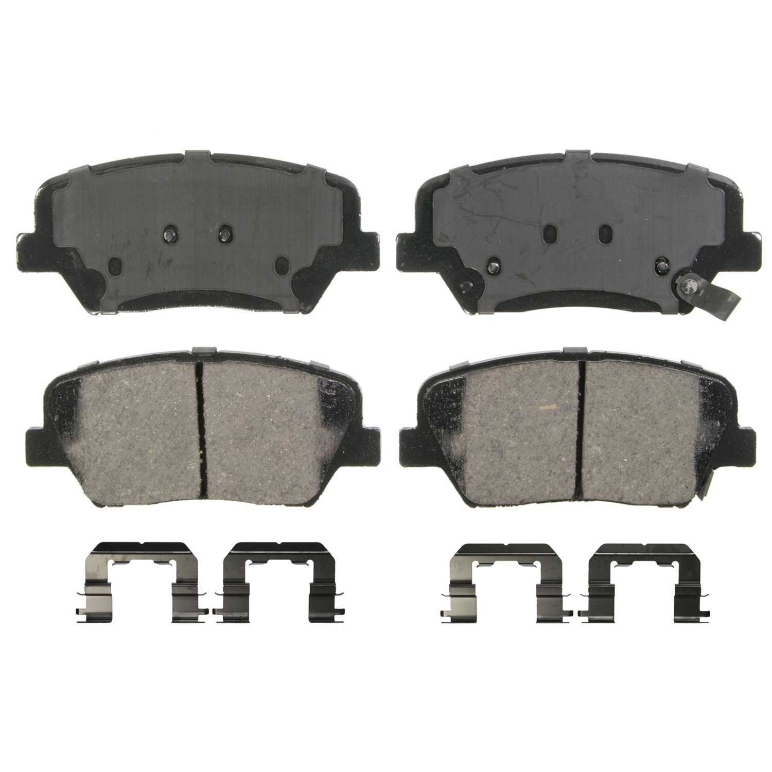 Wagner QuickStop ZD1593 Ceramic Disc Pad Set Includes Pad Installation Hardware Front