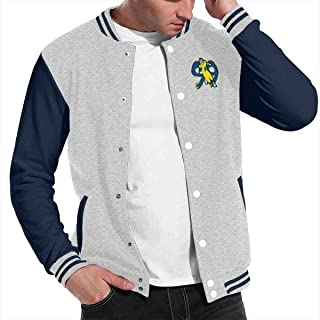 Basketballsadw Men Blue-Los-Angeles-Donald Baseball Uniform Jacket