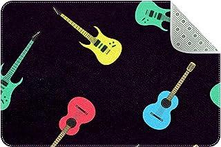 Doormat Custom Indoor Welcome Door Mat, Acoustic Guitars Music Home Decorative Entry Rug Garden/Kitchen/Bedroom Mat Non-Sl...