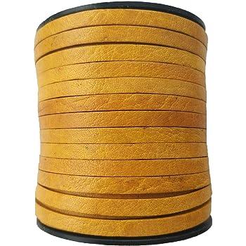 Xsotica-Flat Leather Cord 5.0 MM X 1.0 MM 1 Yard Black