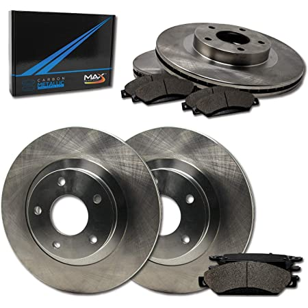 Max Brakes Front /& Rear Premium Brake Kit TA045443 Fits: 2013 13 Fits Nissan Rouge and Rear OE Series Rotors + Metallic Pads