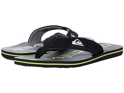 Quiksilver Kids Molokai Layback (Toddler/Little Kid/Big Kid) (Black/Green/Black) Boys Shoes