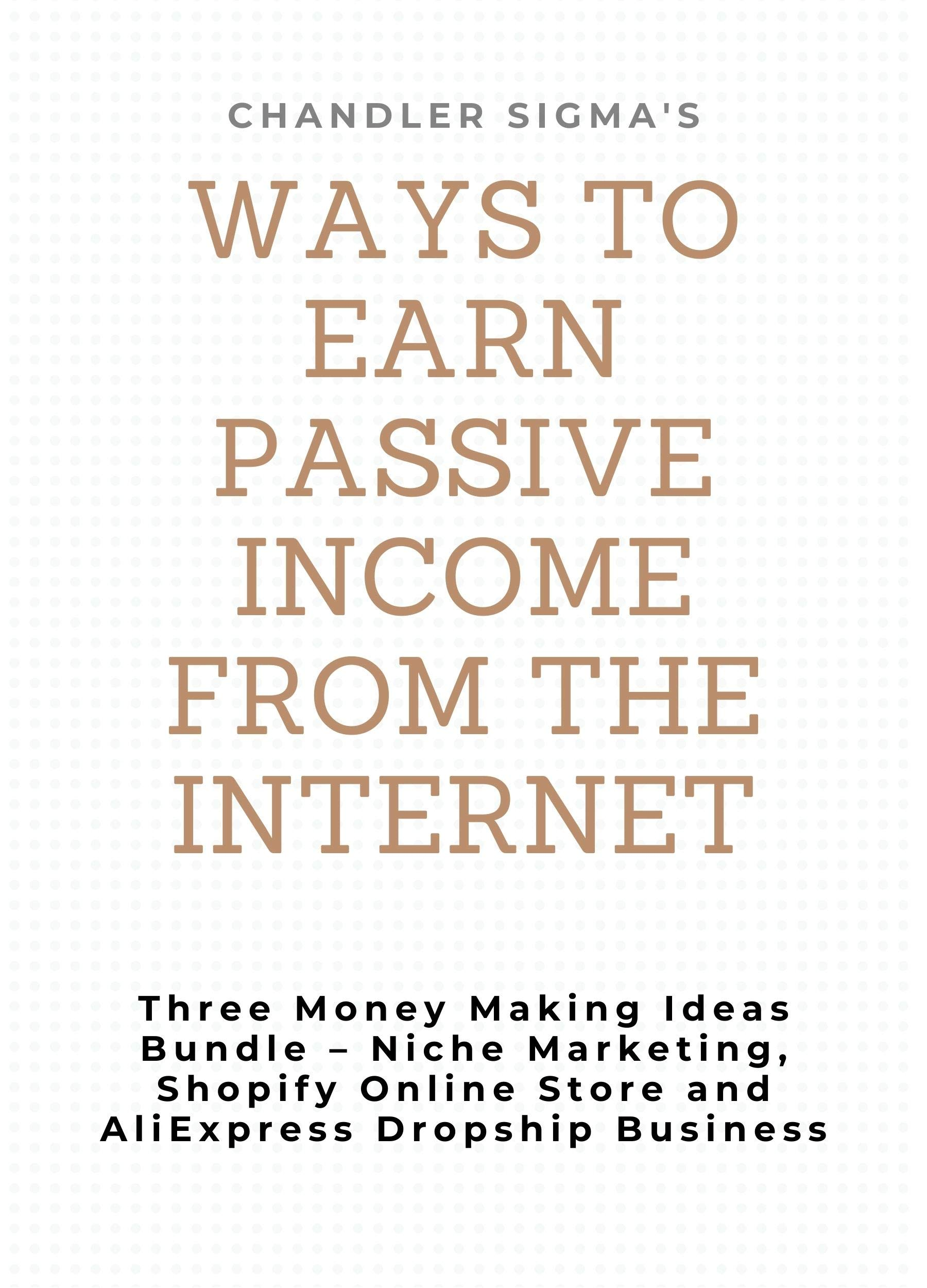 Ways to Earn Passive Income from the Internet: Three Money Making Ideas Bundle – Niche Marketing, Shopify Online Store and AliExpress Dropship Business