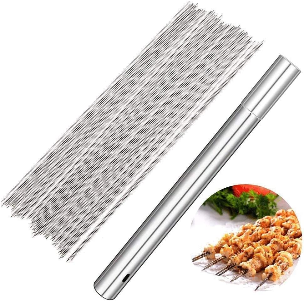 DSDNN 100Packs Barbecue Skewers A surprise price is realized Steel Stainless Great interest Skewer