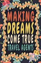 Making Dreams Come True Travel Agents: Funny Vintage Travel Agents Monthly Planner Gift