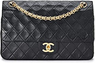 CHANEL Black Quilted Lambskin Classic Double Flap Medium (Pre-Owned)
