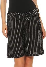 Malito Femmes Lin Shorts Pantalon décontracté Berm