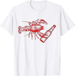 Lobster Drinking Beer Shirt Funny Lobster Gift Beer Lovers