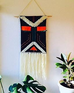 Wall hanging decor boho Bearded Shaman 10x30 inch