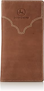 John Deere Men's Leather Checkbook Cover