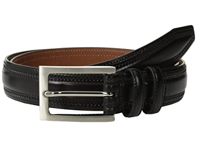 Johnston & Murphy Double-Pinked Belt (Black) Men