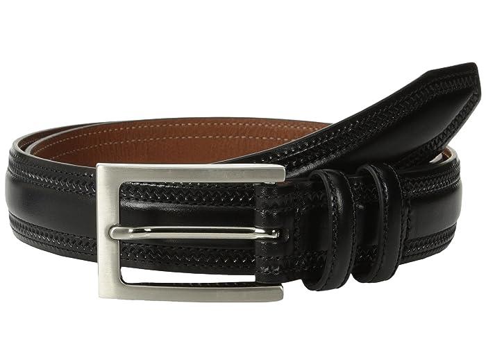 Johnston & Murphy Double-Pinked Belt (Black) Men
