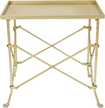 "Creative Co-Op 20"" Metal Rectangle Table Occassional Furniture, Gold"