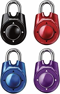 Master Lock 1500iD 4 Pack 2-1/8in. Wide Speed Dial Directional Combination Padlock