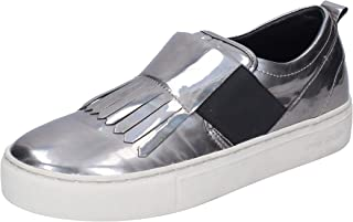 Crime London Loafer Flats Womens Silver