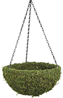"SuperMoss (29202) MossWeave Hanging Basket - Round, Fresh Green, Small (12.5 Diameter)"""
