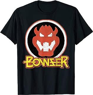 Bowser Retro Portrait Graphic T-Shirt