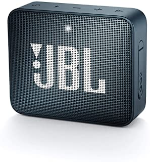 JBL GO2 Portable Bluetooth Speaker with Rechargeable Battery, Waterproof, Built-in Speakerphone, Dark Blue