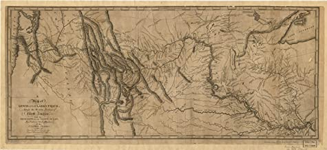 VintPrint Map Poster - A map of Lewis and Clark's Track Across The Western Portion of N.