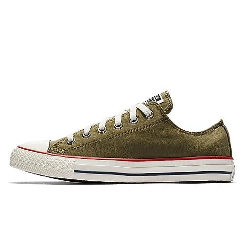 4c959e8866f7 Converse Unisex Chuck Taylor All Star Ox Shoes - Medium Olive Garnet