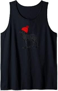 Mountain Goat Wearing a Beanie Stocking Hat Wildlife Design Tank Top