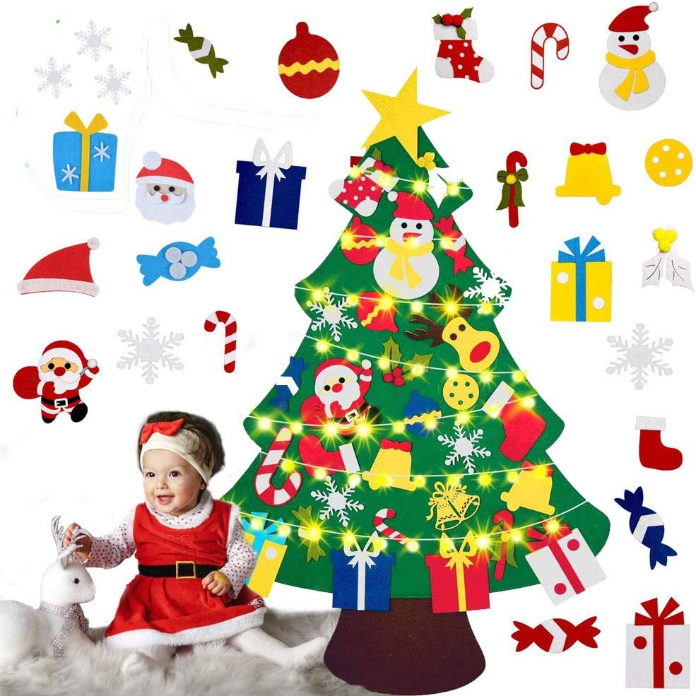 Christmas Tree DIY Felt Ornaments Sale Special Price with and 30pcs trend rank