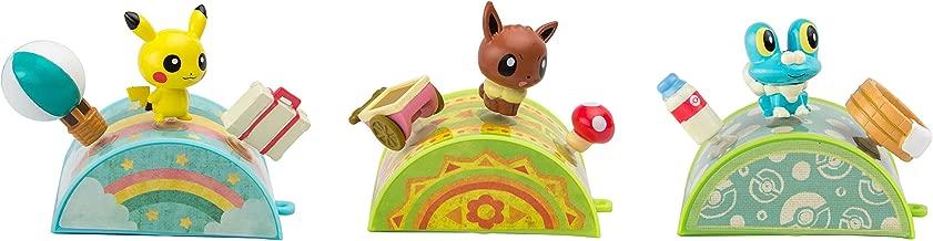 Pokémon Petite Pals Figure Bundle Pack: Pikachu, Eevee And Froakie