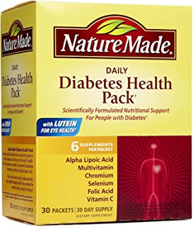 Nature Made Diabetes Health Pack, 30 count (Pack of 3)