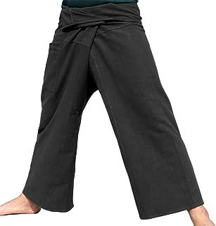 Brand Plain Thick Muang Cotton Fisherman Wrap Tall Pants