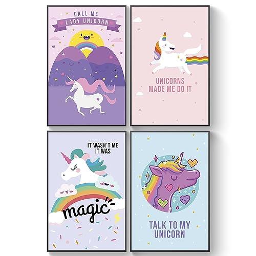 4458ddd243 Pillow   Toast Unicorn Rainbow Wall Art