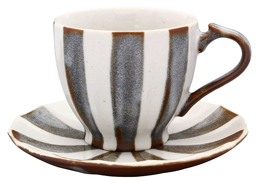 なぞらえる本当のことを言うとバナー美濃焼 珈琲碗皿 クリムサーカス(茶)