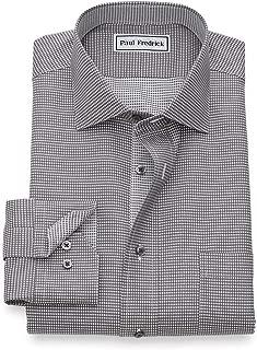 Men's Classic Fit Non-Iron Cotton Mini-Houndstooth Dress...