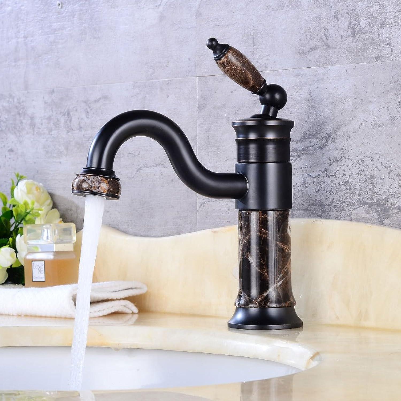 Accessori bagno ZHFC ZHFC European archaize water basin leading jade, copper faucet, single handle redating faucet, single hole basin faucet