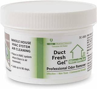 SimpleAir Duct Fesh Gel - HVAC Air Freshener, Cleaner, Deodorizer - Non Toxic for Odor Block
