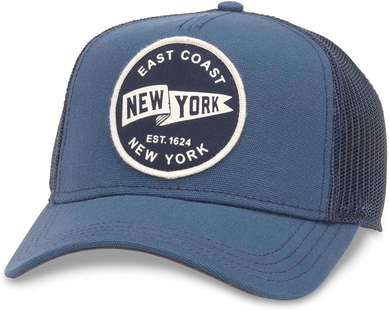 1a7b73fd89005f American Needle Valin Mesh Mesh Mesh Trucker Snapback Hat, New York, Navy  (42960A-NY) de9827