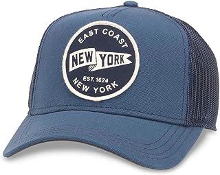 6be8c168620f9a American Needle Valin Mesh Trucker Snapback Hat, New York, Navy (42960A-NY