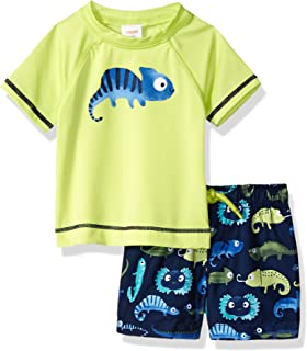 Gymboree Boys' Toddler 2-Piece Short Sleeve Rashguard Set