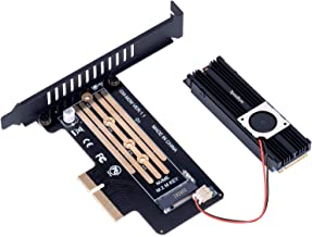 M2 PCIe NVme Adapter with SSD Fan Cooler Upgraded M2 NVME (M Key) 2280 2260 2242 2230 to PCIexpress 3.0 x 4 x8 x16 Slot Adapter Host Controller Expansion Card with Low Profile for PC
