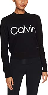 Calvin Klein Women's Performance Logo Long Sleeve Pullover Top