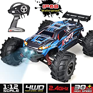 INGQU IP68 Waterproof RC Car High Speed RC Truck 4x4 Off Road Monster RTR Hobby Remote Control Car for Kids and Adults