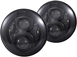 Vouke H6024 7 inches Round Black Cree LED Headlight High Low Beam fit for Wrangler JK TJ..