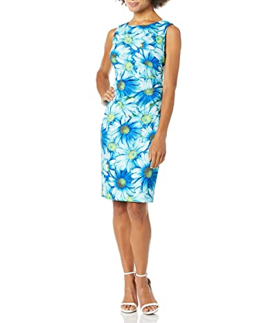 Calvin Klein Sleeveless Scuba Starburst Sheath Dress