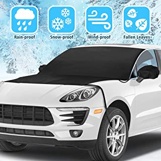Tvird Car Windshield Snow Cover, Car Windsheild Cover With Mirror Covers Frost & Ice-Resistant, Windshield Snow Ice Cover Sun Shade Car Snow Cover,Windshield Protector for Car/Truck/SUV 82''x48.8''