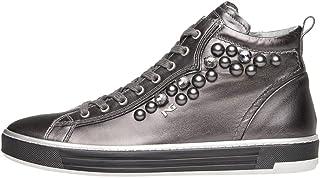 Nero Giardini A806662D Sneakers Alte Donna in Pelle E Tela