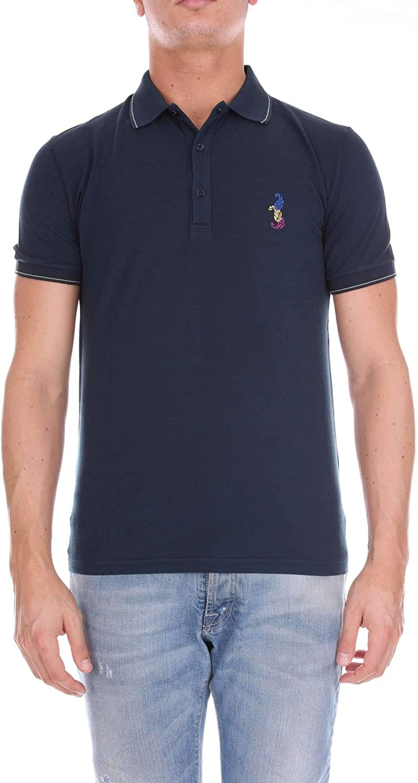 ETRO Men's 1Y80591701 blueee Cotton Polo Shirt